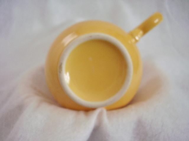 Vintage Fiestaware Yellow Ring Handle Teacup Fiesta A