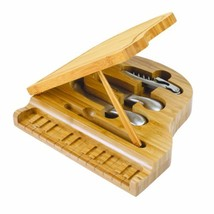 TOSCANA - a Picnic Time Brand Piano Bamboo Cheese Board/Tool Set, 9-Inch - $51.32