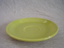 Vintage Fiestaware Chartreuse Teacup Saucer Fie... - $12.00