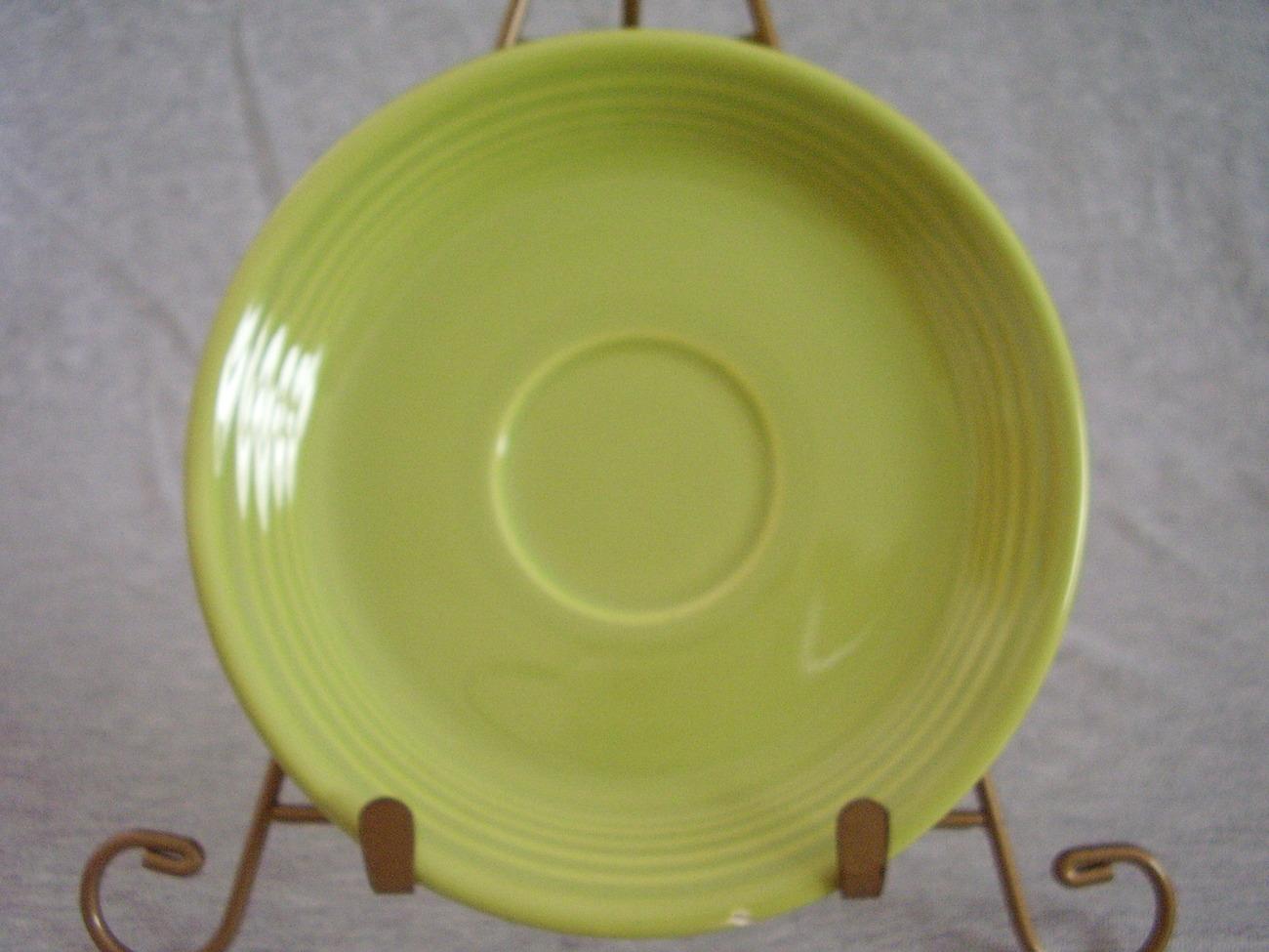 Vintage Fiestaware Chartreuse Teacup Saucer Fiesta  B