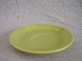 Vintage Fiestaware Chartreuse Teacup Saucer Fie... - $16.00
