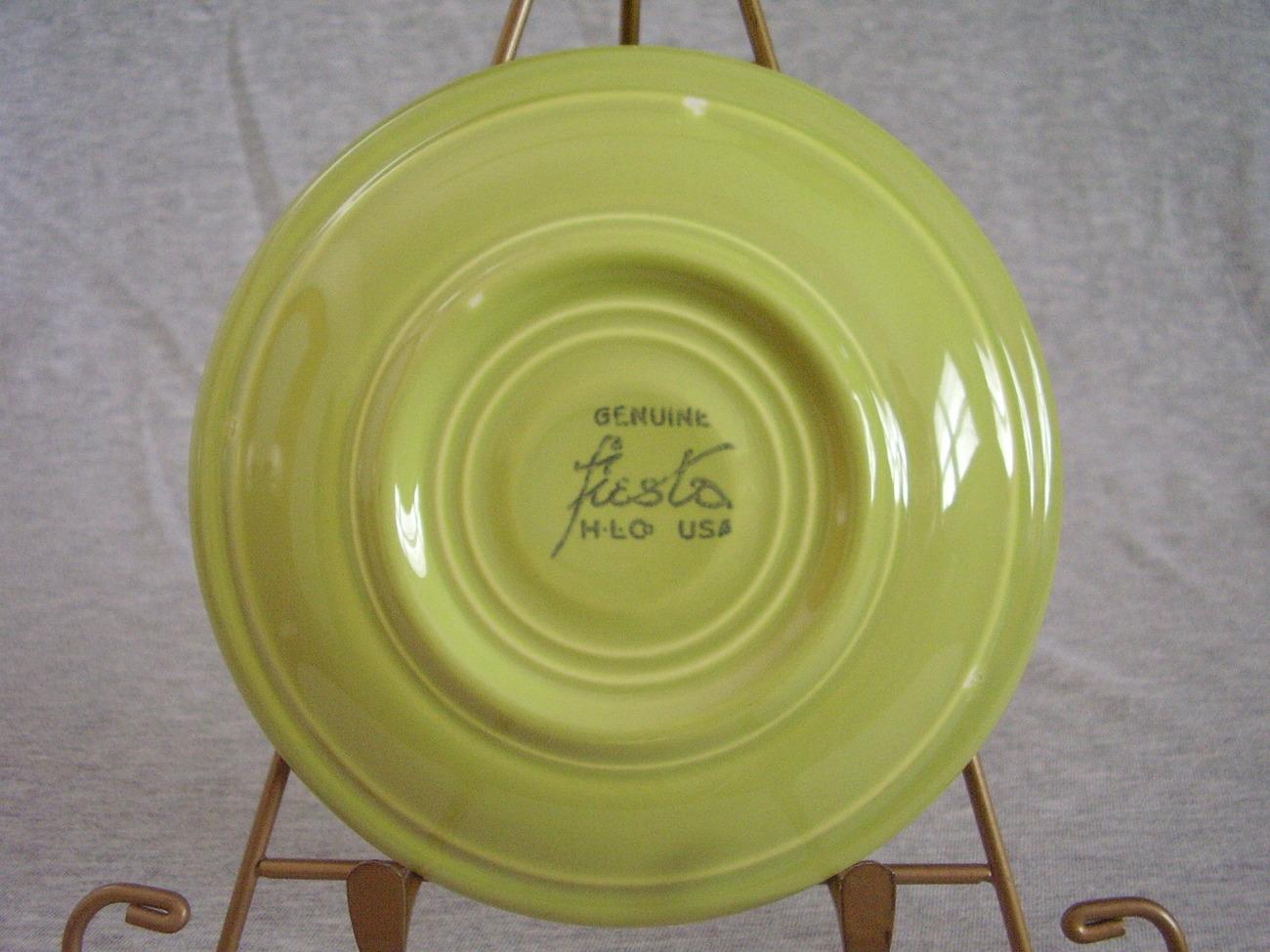 Vintage Fiestaware Chartreuse Teacup Saucer Fiesta  A