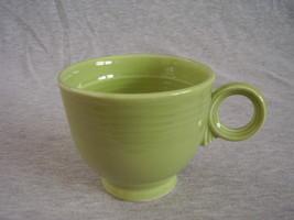 Vintage Fiestaware Chartreuse Ring Handle Teacu... - $36.45