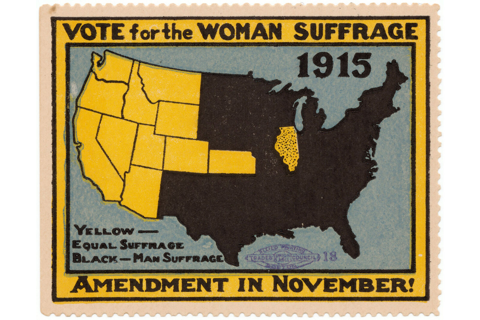 Primary image for 1915 Womens Rights Poster Vote for The Woman Suffrage Amendment