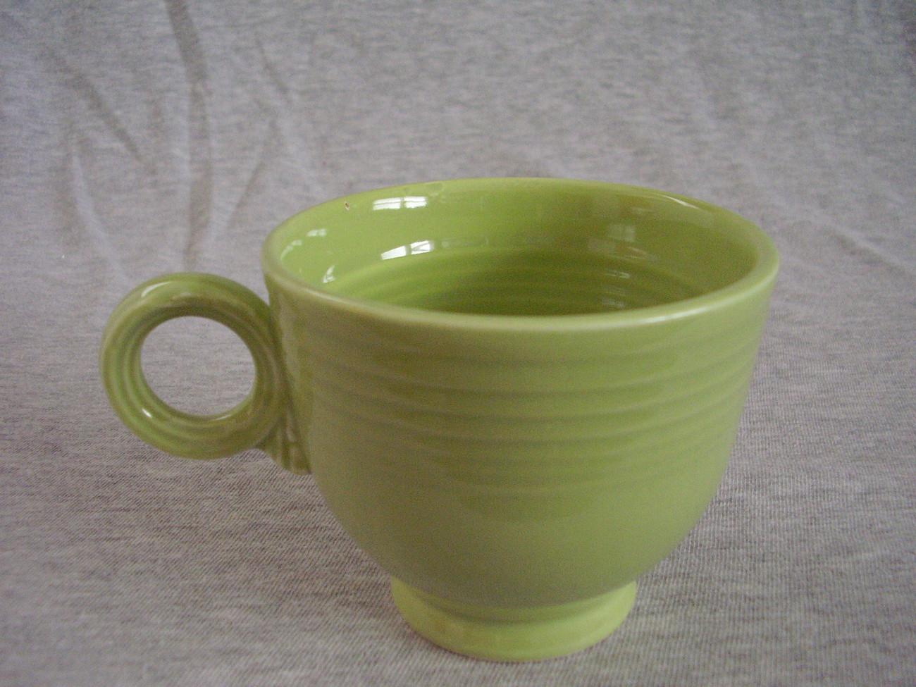 Vintage Fiestaware Chartreuse Ring Handle Teacup  Fiesta  B