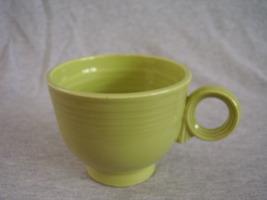 Vintage Fiestaware Chartreuse Ring Handle Teacup Fiesta   A - $28.35