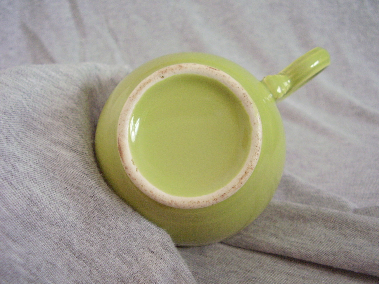 Vintage Fiestaware Chartreuse Ring Handle Teacup Fiesta   A