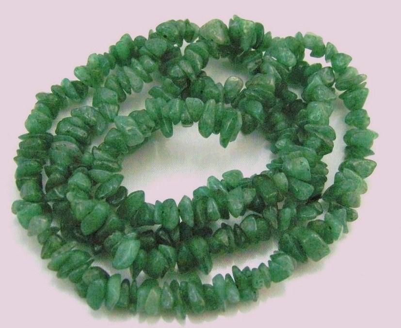 """36"""" GENUINE GEMSTONE RICH GREEN JADE chips NUGGETS NECKLACE/bracelet/anklet"""