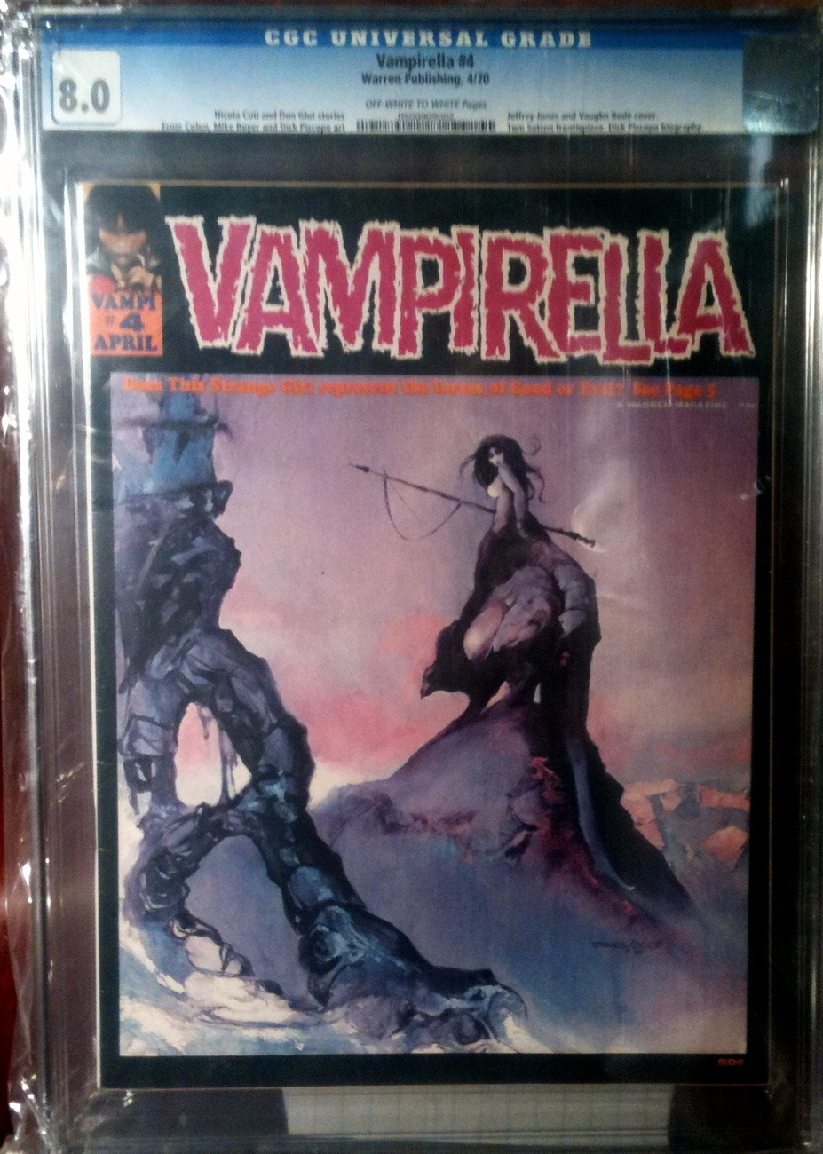 Vampirella Magazine # 4 CGC Graded  8.0 VF Warren
