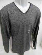 Calvin Klein Men's Sweater V Neck Long Sleeve Xxl 100% Cotton GRAY/BLACK Nwt - $22.79