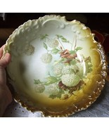 Antique Rosenthal Bavaria Bowl-Nice Color Pattern-White Snow - $80.75