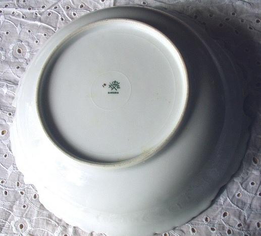 Antique Rosenthal Bavaria Bowl-Nice Color Pattern-White Snow