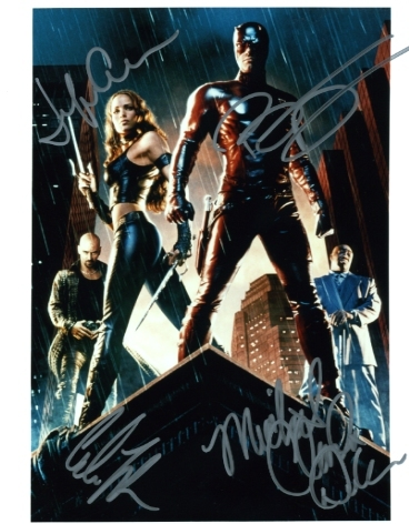 Daredevil cast signed photo Jennifer Garner  Ben Affleck Colin Farrell M. Duncan