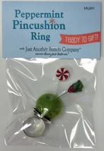 Peppermint Pincushion Ring (MIQ001) ready to gift Just Another Button Company - $21.60