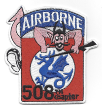 "3.5"" Army 508TH Airborne Infantry Regimental Combat Team Embroidered Patch - $23.74"