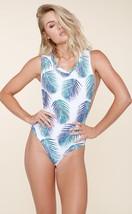 Stone Fox Swim Tulum T-SHIRT Style One Piece Swimsuit In Petrogleaf (L) Nwt $190 - $150.00