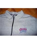 t44 COORS LIGHT Beer Heavy Knit Zip Neck T Shirt XL - $4.00