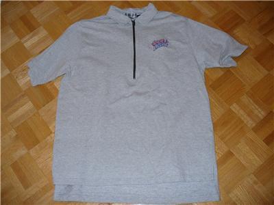 t44 COORS LIGHT Beer Heavy Knit Zip Neck T Shirt XL