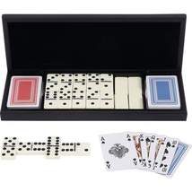 Alex Navarre™ 28pc Domino Set with 2 Decks of Cards in Wood Box - $29.95