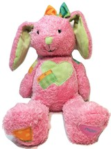 Hallmark Until We Hug Again Pink Stuffed Bunny Plush Recordable w/ Voice... - $39.99