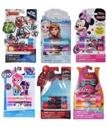 TOWNLEY* 2pc LIP BALM Flavored DISNEY+MARVEL+TROLLS Characters *YOU CHOO... - $2.39