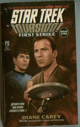 STAR TREK book lot INVASION First Strike/Time's Enemy/Soldiers of Fear