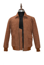 Ryan Gosling Brown Suede Leather Jacket - $179.99