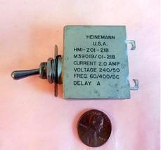 HEINEMANN  HMI-Z01-218 M39019/01-218 Aircraft Circuit Breaker (a) - $31.30