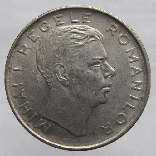 1943 ROMANIA KING MIHAI Coin over 65 Years Old Vintage 100 Lei nickel plated iro