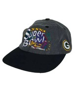 Vtg Super Bowl XXXI 31 New Orleans Snapback Hat 1997 Green Bay Packers P... - $37.79