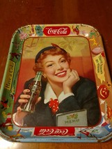 1950 Coca Cola Metal Serving Tray Thirst Knows No Season Have A Coke - $13.86