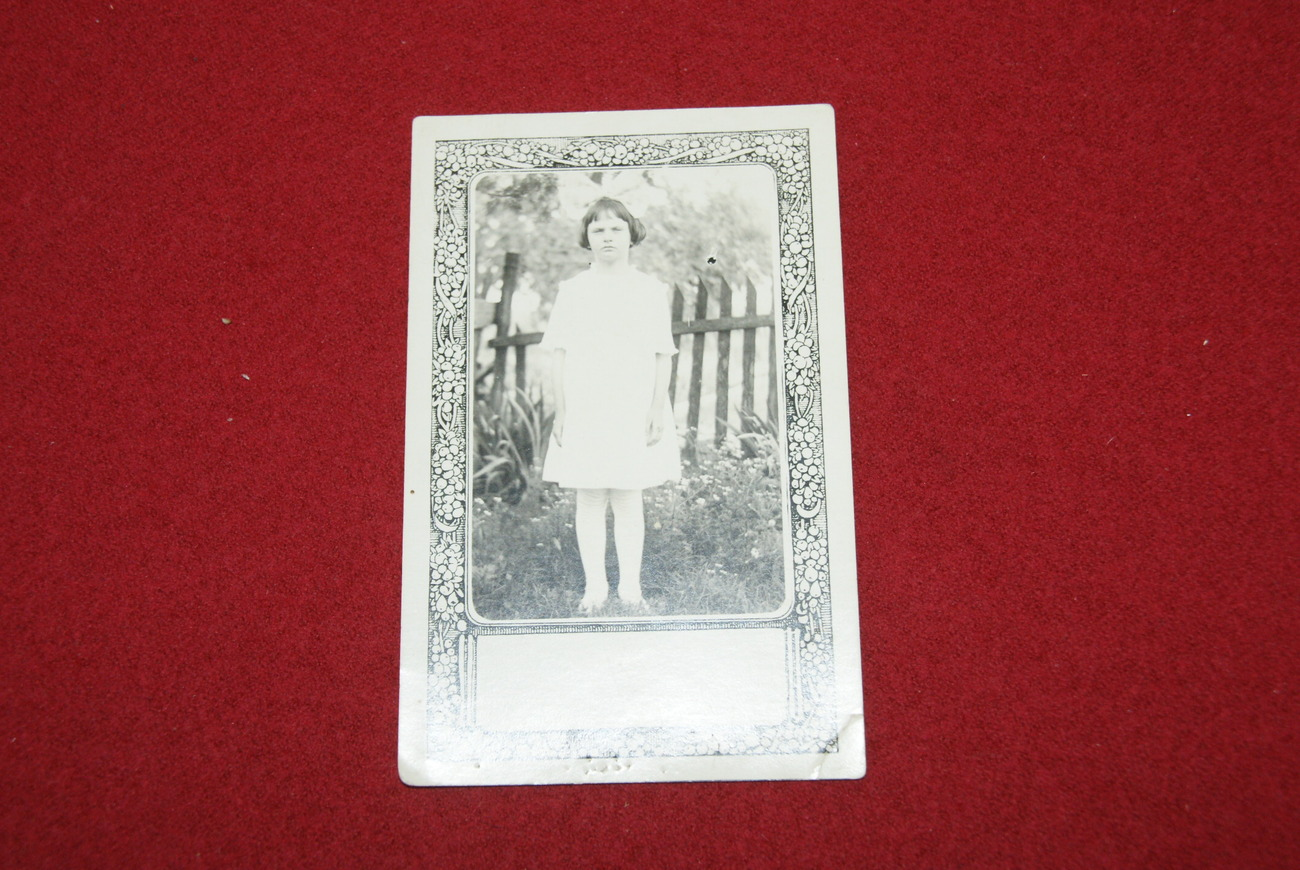 Postcard of Girl of 1920 s