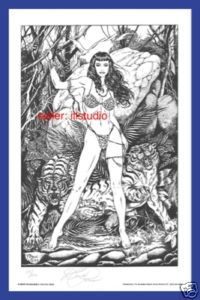 BETTY PAGE~HEART So SAVAGE-Viril Finlay style SN'D/200!