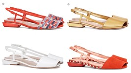 Tory Burch Pietra Leather Runway Flat Sandal Retail: $350 - $108.90+