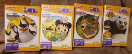 Lot of 4 Fisher Price iXL Learning System. Scooby-Doo,Kung Fu Panda 2 and more! - $25.00