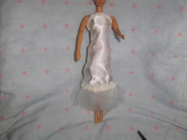 White Satin and Tulle Gown with Iridescent Sequin Trim fits Barbie and m... - $5.95