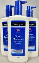 3 Pack Neutrogena Deep Moisture Fast Absorbing Body Lotion 13.5 Oz. Each B1 - $34.60