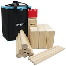 Maggift Kubb Game Set Backyard Game Set Outdoor Game with Carrying Bag - $46.62