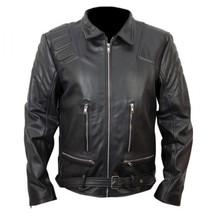 New Men's Terminator 3 T3 Arnold Schwarzenegger Biker Leather Jacket,Men... - $139.99+
