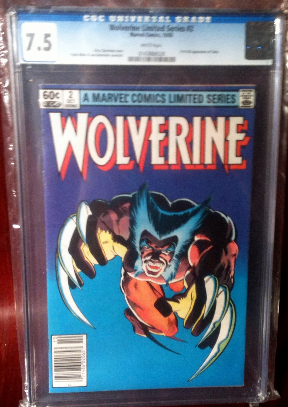Wolverine 1982 Limited Series # 2 CGC Graded 7.5 VF-