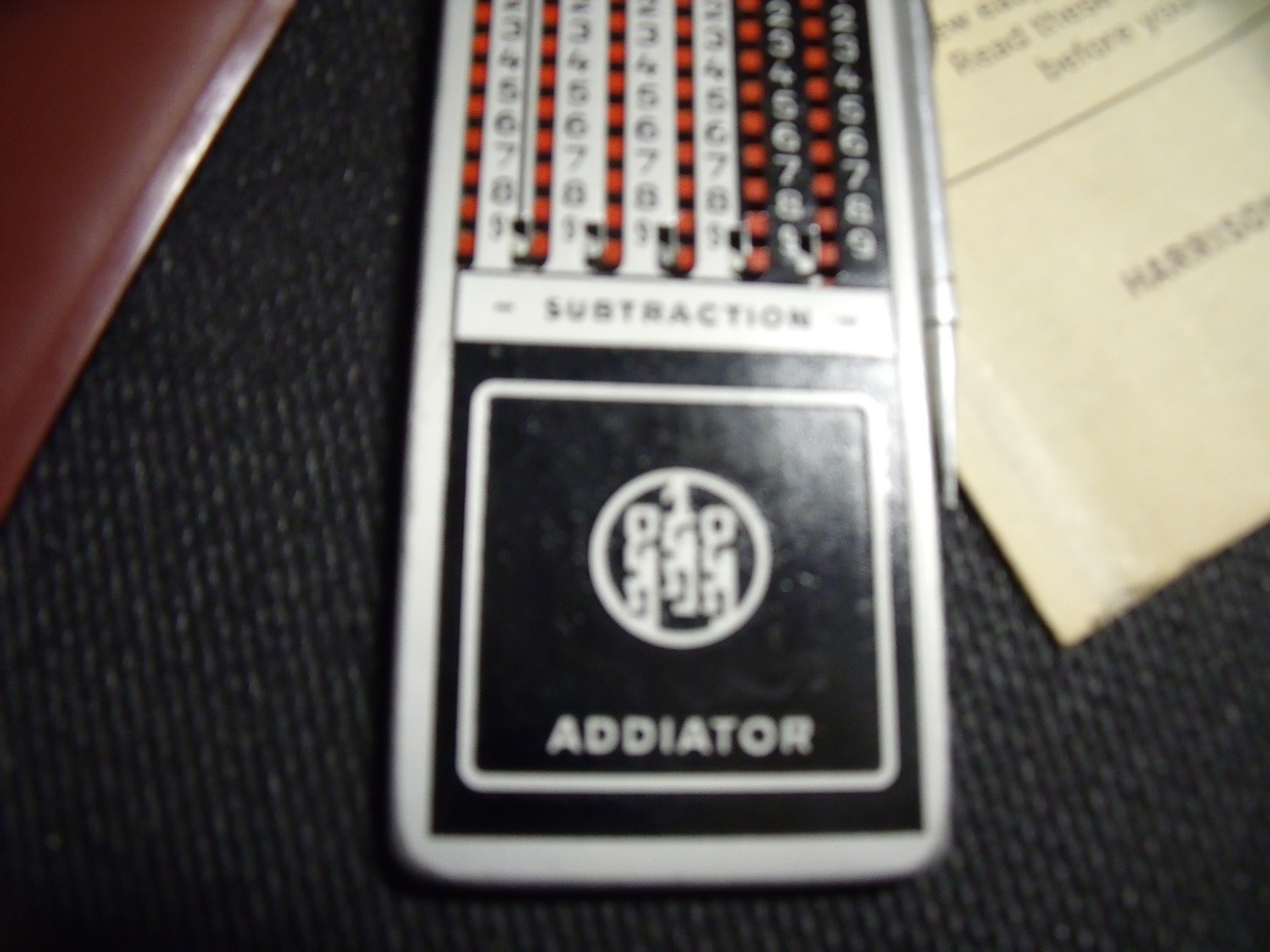 Arithma Addiator with instructions & case