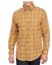 NWT Saddlebred L/S Soft Cotton Flannel Shirt Tan Plaid XL Msrp $36 - $14.01