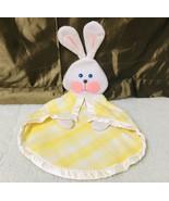 Vintage Fisher-Price 1979 Yellow Plaid Bunny Rabbit Baby Blanket - $158.40