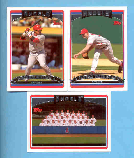 2006 Topps Anaheim Angels Baseball Team Set