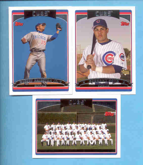 2006 Topps Chicago Cubs Baseball Team Set