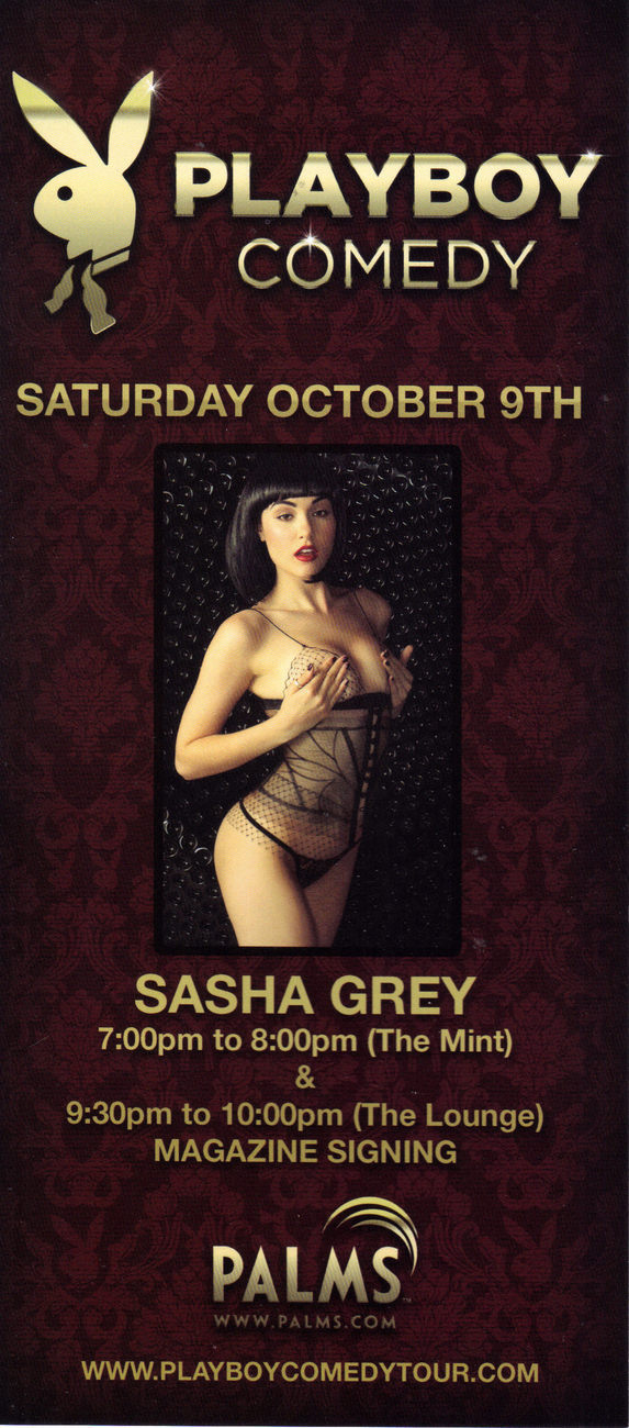 SASHA GREY @ Playboy Comedy PALMS Vegas Promo Card