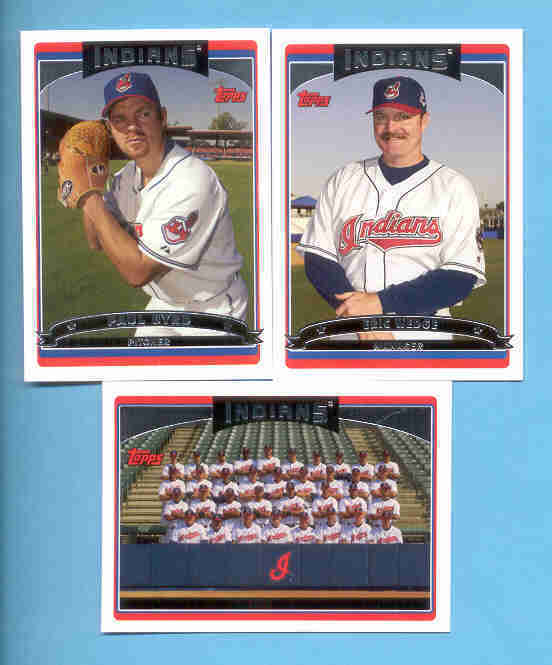 2006 Topps Cleveland Indians Baseball Team Set