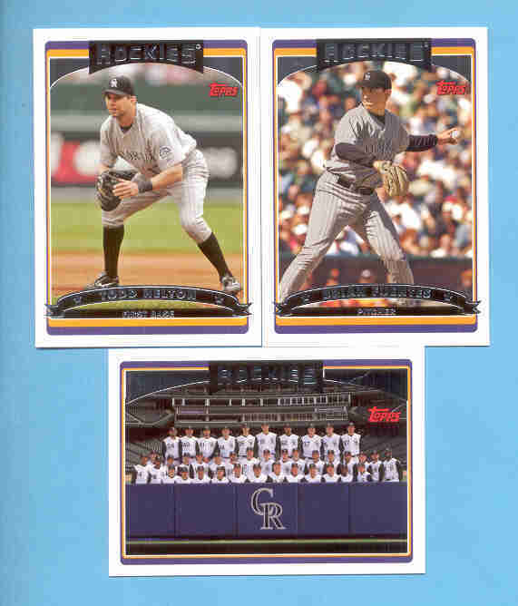 2006 Topps Colorado Rockies Baseball Team Set