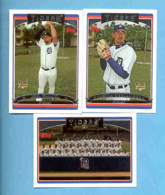 2006 Topps Detroit Tigers Baseball Team Set