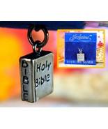 Vintage Holy Bible Bracelet Charm Pendant Sterling Silver Jezlaine Jez - $15.95